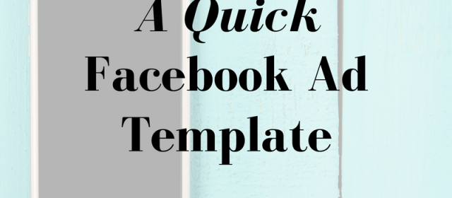 A 3-Line Facebook Ad Template That Works Like Crazy